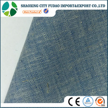 Chambray look linen polyester blend fabrics apparel fabric wholesale linen fabric