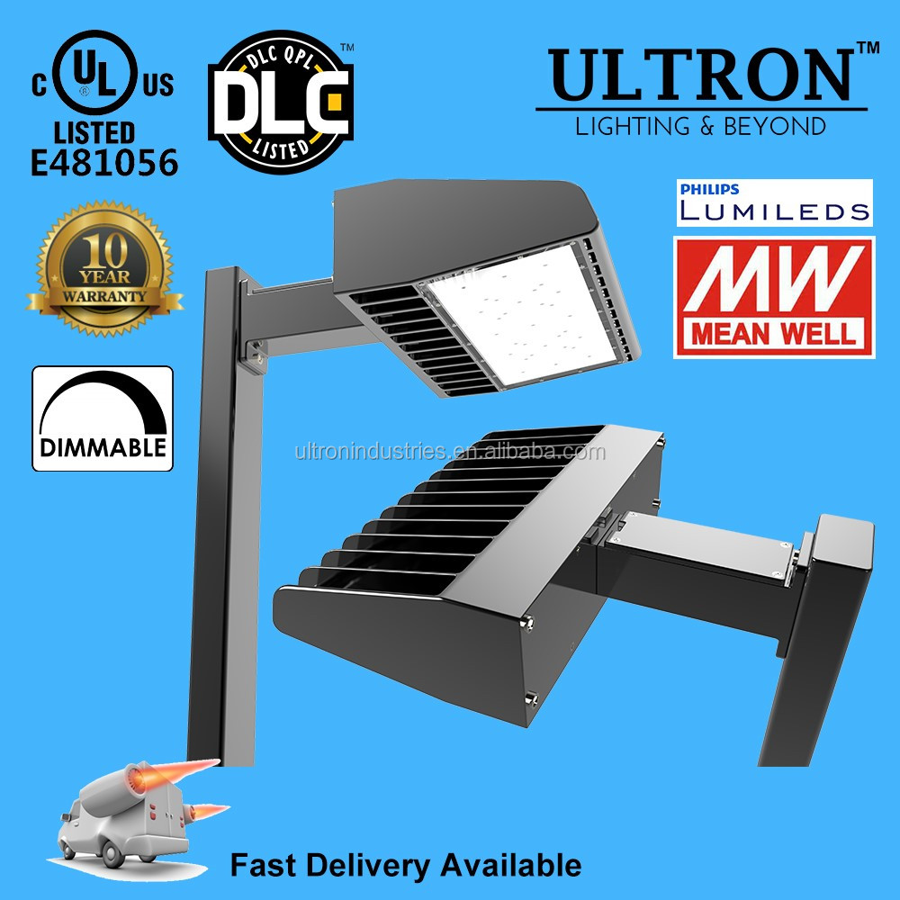 UL DLC 80W led parking lot lighting 10 Years Warranty