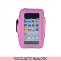 Adjustable PU Leather Armband for iphone 4S Pink