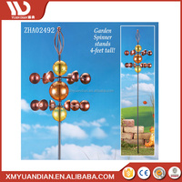 Chinese Supplier Solar Led Garden Light Metal Decorative Craft Models With Wind Spinner