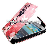case for SAMSUNG GALAXY SIII S3 MINI i8190 WORLD PEACE LADY PEGION MAGNETIC FLIP PU LEATHER CASE COVER POUCH