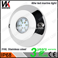 WEIKEN 60w RGB Multi-color IP68 LED Underwater Light bluetooth remote control