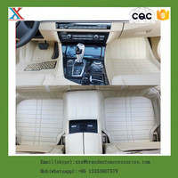 PU leather china supplier hand sewing right hand drive 3D floor car mat