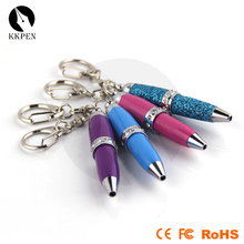 KKPEN 2017 novelty full color printing key chain Crystal pen