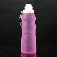 BPA free portable collapsiable silicone outdoor products water bottle