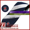 100% polyester jacquard woven tie with custom logo for company and corporate use