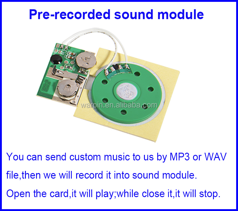 Music card mechanism/ Sound module for greeting card