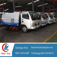 Dongfeng mobile road cleaning sweeping vehicle 4*2
