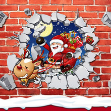 OXGIFT Made in China Alibaba wholesale Manufacture Christmas Pvc waterproof 3d three-dimensional Sticker