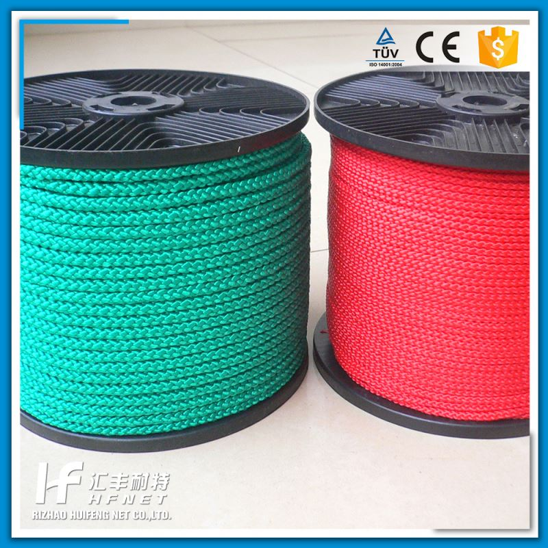 Hot Sale Pp Diamond Elastic Round Braided Rope With 16 Strands 8mm