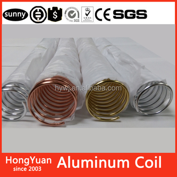 "Classical office supply durable using simple coil binding 1"" aluminum 1inch aluminum wire coils spiral coil binding aluminum"