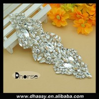 Clear Crystal Rhinestone Costume Chain Applique