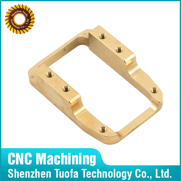 Shenzhen custom precision brass parts plate threaded tube CNC turning and milling machining