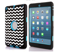2016 high quality 3 in 1 hard pc shockproof for ipad cover with factory low price for ipad mini 2/3/4