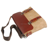 863 Retro Stylish Large Coffee Line Shoulder Travel Bag Easy Portable for Men