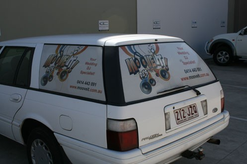 Waterproof Feature and Vinyl Material window decals for vehicles