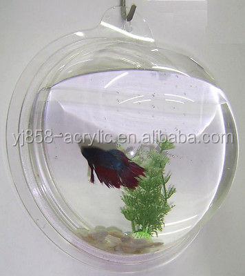 Eco friendly material mini plastic fish bowl small acrylic for Small plastic fish