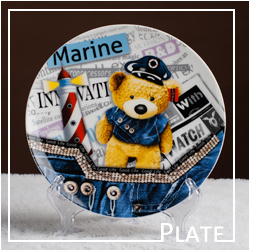 customized secure artist plate for holiday promotion