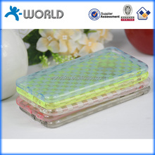 Ultra slim transparent tpu checkered pattern new mobile phone dust cover for iphone 6
