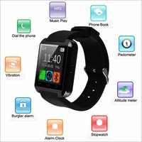 2016 top sale bluetooth smart watch U8 support Wechat, Facebook, Twitter,WhatsApp, Skype