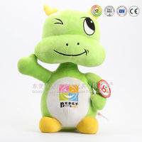 Wholesale stuffed green happy dragon toys