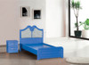 PVC cheapest indian style blue bedroom bed for sale(jk-9451#)