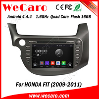 "Wecaro android 4.4.4 car dvd oem 8"" car multimedia player for honda fit bluetooth 2009 2010 2011"
