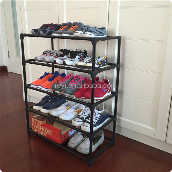 5 Tiers heavy duty stackable iron shoe rack