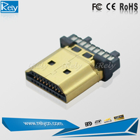 high quality gold plated 20pin hdmi connector for Automated production