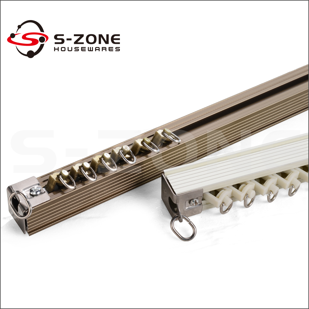 ceiling mounted hotel curtain rail for pulley