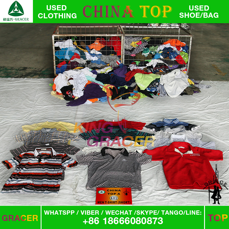 Factory price t-shirts factory used clothing wholesale to chicago,premium used clothing