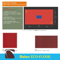 Vinyl Floor Covering Indoor Used Table Tennis Courts for Sale