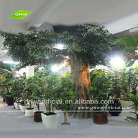 Large artificial decorative plastic banyan tree for Hotel restaurant garden decoration indoor