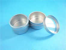 aluminum container with clear cap, 20g cosmetics container with snap on lid