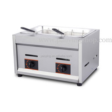 Commercial Use Stainless Steel LPG Gas Deep Fryer for Churros French Fries Chicken Twister Spiral Tornado Potato
