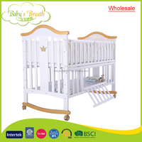 WBC-37A wholesale custom wooden swing adult baby cot design with ultimate price