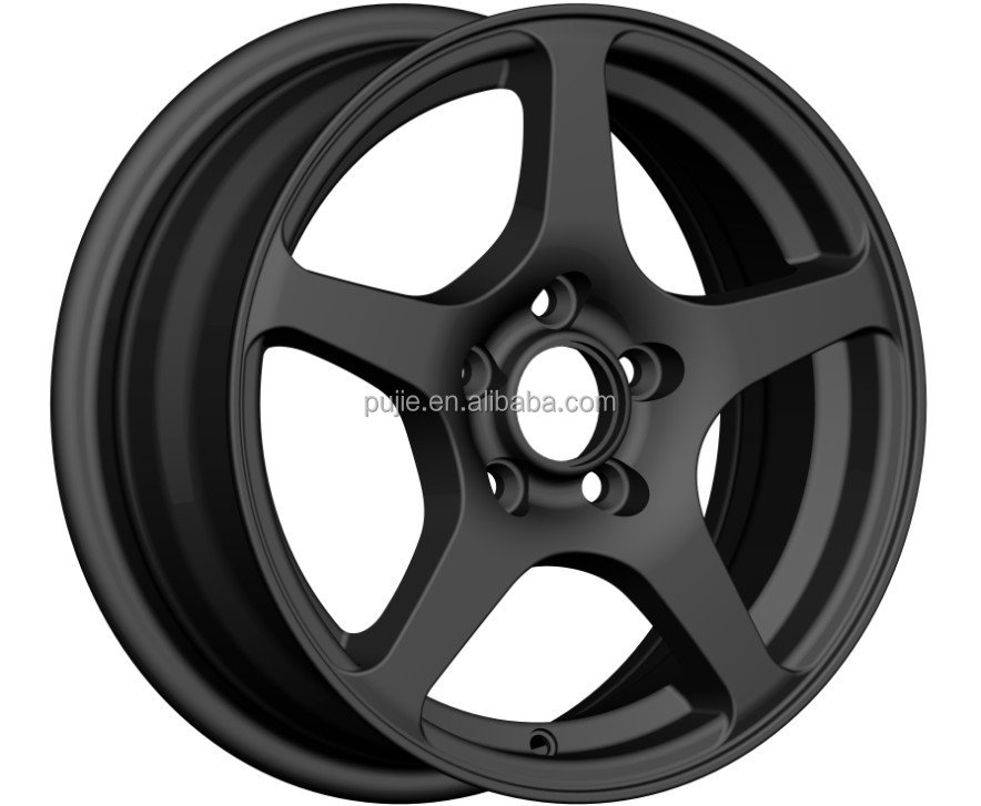 High quality 14*6 black alloy wheel rim for car