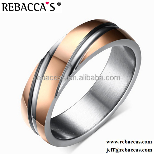 good quality Stainless Steel wedding rings round brilliant cut moissanite diamond rings