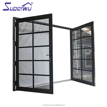 American NFRC standard wind proof bullet proof double glass double swing door for commercial