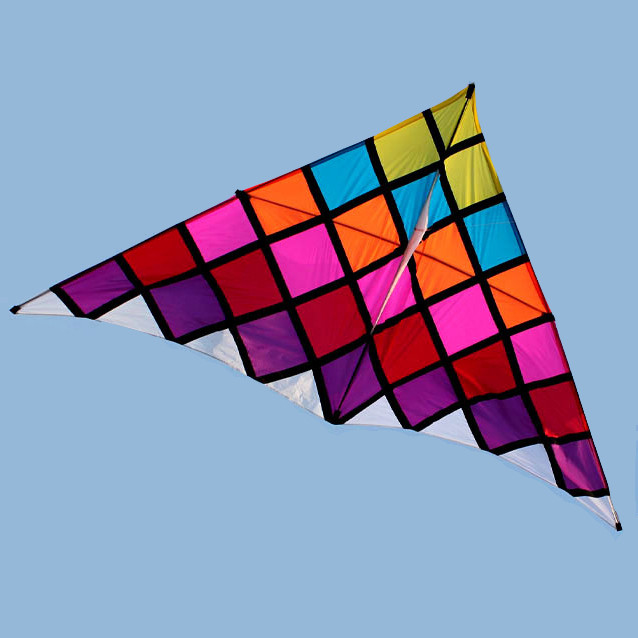 large chinese checker delta kite