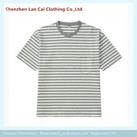 Gray Striped T Shirts Dry Fit