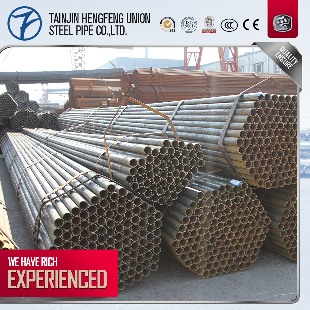 China Supplier black carbon steel welded pipe price list per ton