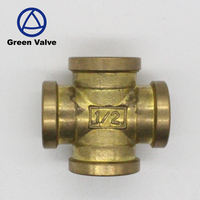 Gutentop High quality Chinese suppliers wholesale 4 ways female threaded brass cross joint pipe fittings dn25