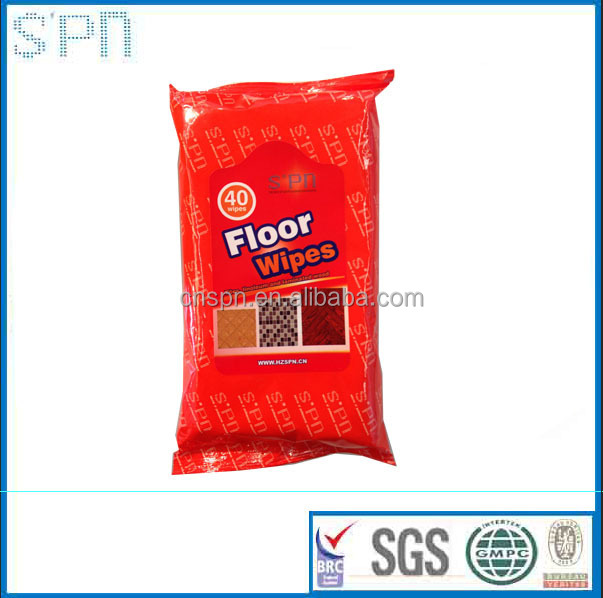 Antibacterial disposable wet floor wipe