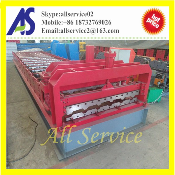 Good quality color steel roofing sheet step tile forming machine