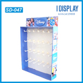 High quality pop cardboard hook display stand for small gift