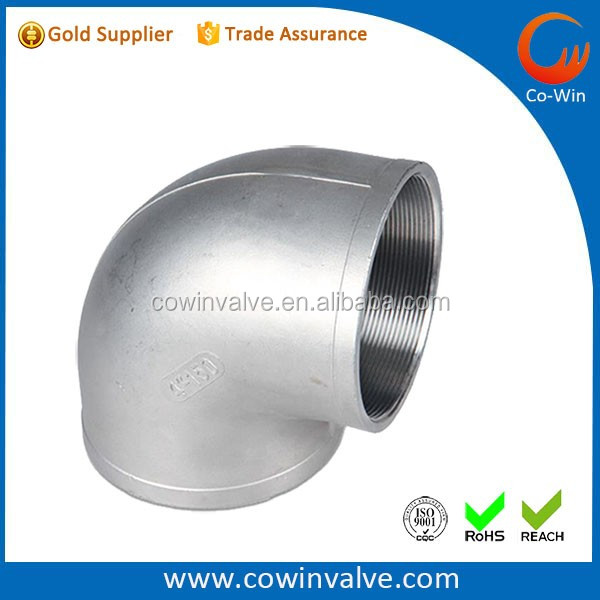 "Stainless Steel BSP Threaded1"" 90 Degree Elbow"