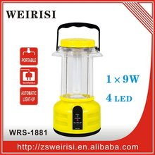 Rechargeable portable emergency fluorescent lantern/camping light