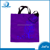 Ripstop Nylon Shopping Tote Carry Bags With Samll Nylon Custom Printed Waterproof Recyclable Polyester Foldable Bag