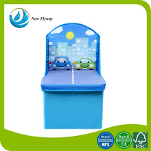eco-friendly baby products coated non woven Children's seat folding storage stool